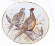 A fine complete collection of 12 Limoges porcelain plates depicting Game Birds of the World bearing