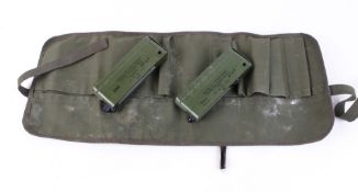 Two 16mm No.1 Mk3 Military Miniflare Signal Kits dated 4/82 & 12/83, Red (x8) & White (x4) in green