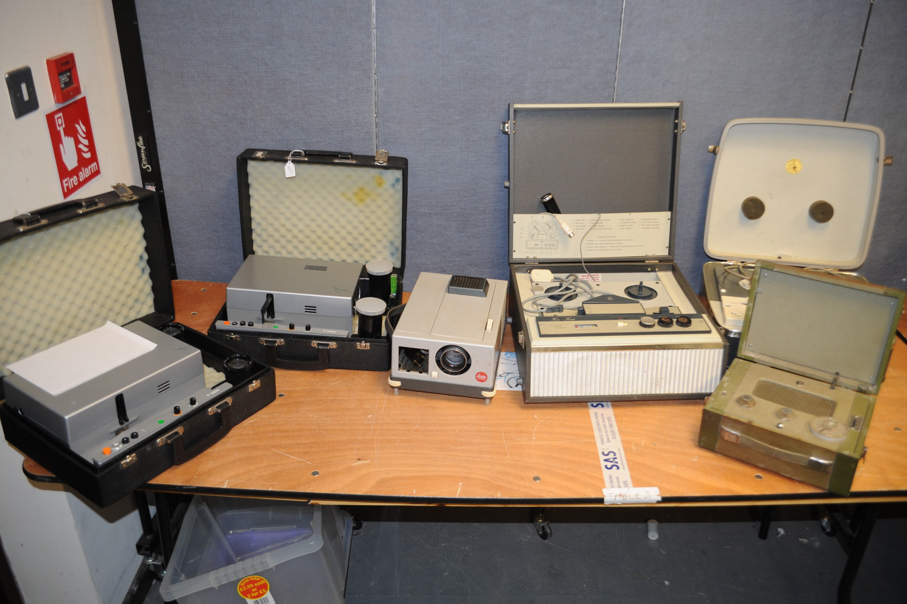 Lot 574 - Slide Projectors, two Rollei P 3800 slide dissolve projectors, with both lenses, in Rollei case, a