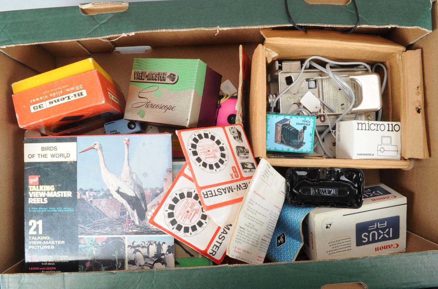 Lot 406 - Novelty Camera Items, including a Viewmaster, Viewmaster reels, talking Viewmaster reels, Film