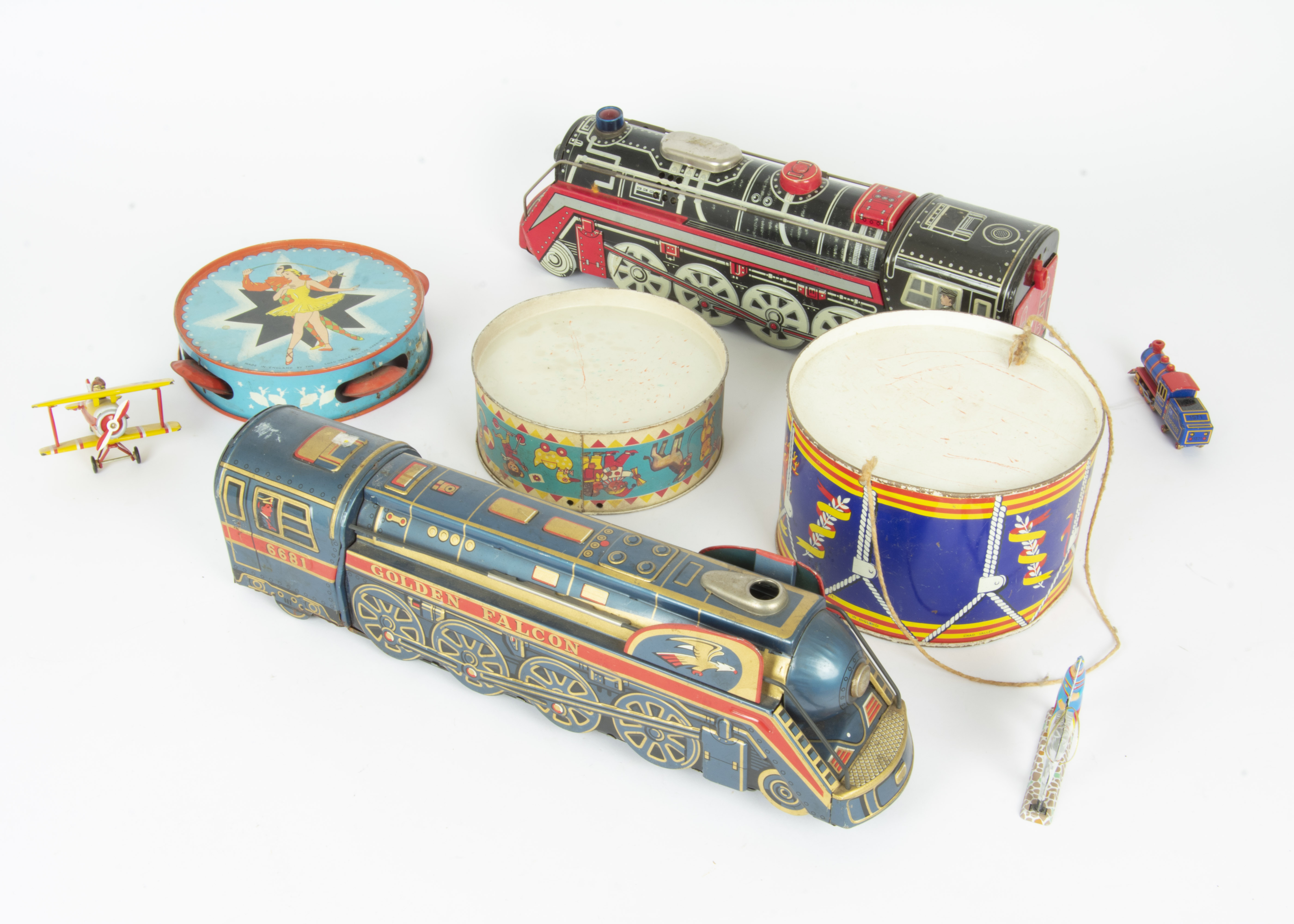 Lot 273 - Various Tin Toys, Kovap Road Roller, Leichenwagen 1924 and Chinese Pop Pop boat, all in original