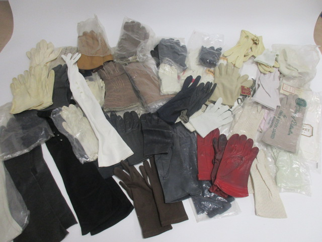 Lot 16 - A large collection of ladies gloves, including a pair by Cornelia James and the C.W.S. Glove