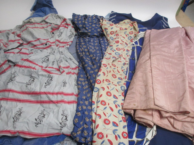 Lot 21 - A collection of ladies vintage dresses, handmade and shop bought examples including a Stamp-Taylor