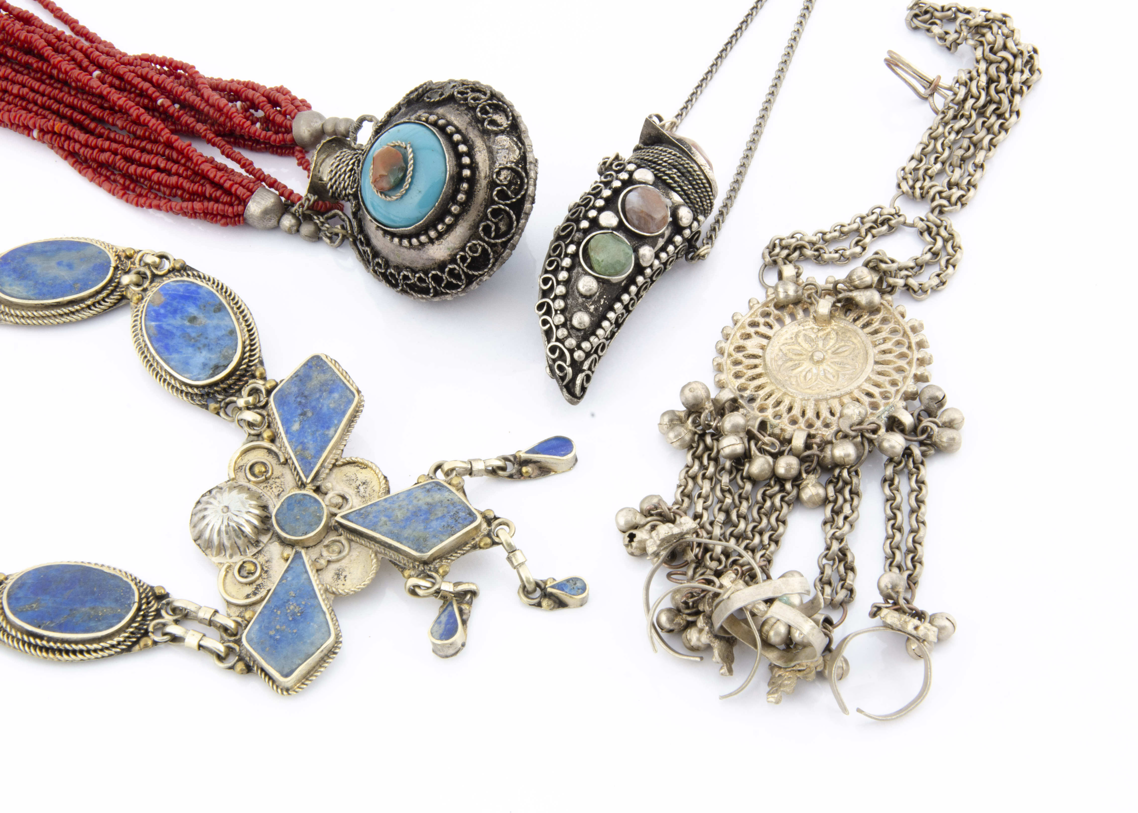 Lot 269 - A collection of North African white metal jewellery, together with a large quantity of Middle