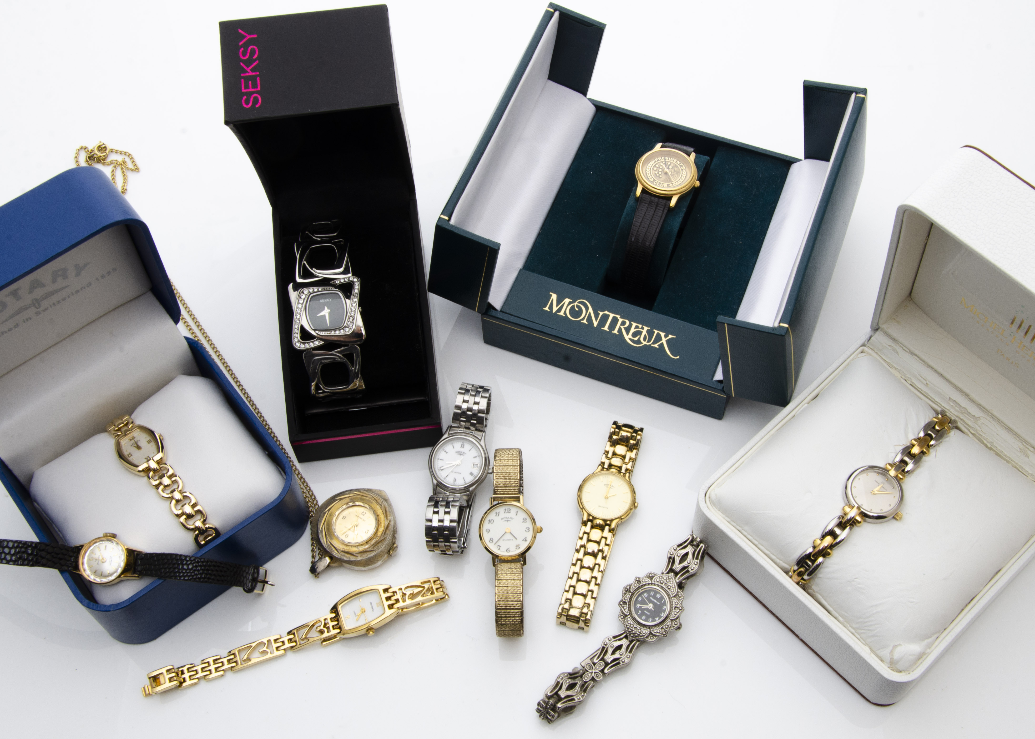 Lot 260 - A collection of modern ladies wristwatches, various makers and styles, some fashion watches,