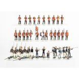 A selection of German-made 48mm figures comprising Heyde German sailors (14), Haffner marching