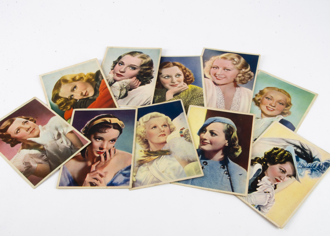 """Lot 431 - Nestle Stars of the Silver Screen Trading Cards, ten of the large size (4 ½"""" by 6 ¼"""") Nestle cards"""