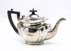 A George V silver teapot by JD WD, 21.5ozt, with engraved initials and dated 1899 to 1924, Sheffield
