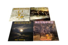 Bathory LPs, four albums comprising The Return (FLAG 9 - With Inner EX/EX), Hammerheart (N 0153-
