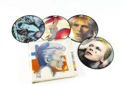 """David Bowie Picture Discs, Fashions - ten 7"""" Picture disc set in plastic folder released on RCA 1982"""