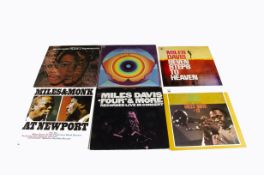 Miles Davis LPs, eighteen albums with titles including Filles De Kilimanjaro, Miles In The Sky,