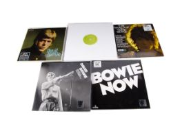 David Bowie LPs, five Record Store Day releases comprising David Bowie (Double), Welcome to the