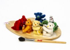 A Steiff limited edition Mini Colour Splash Teddy Bears, 857 of 2000, 2006 (no box and certificate)