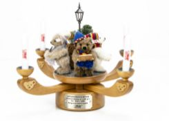 A Steiff limited edition Adventsleuchter, Advent Candelabra, 162 of 1000, 2005 --11 ½in. (29cm.)