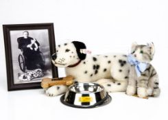 A Steiff limited edition of Margarette Steiff's Dalmatian, with photograph, 73 of 1880, 2005; a