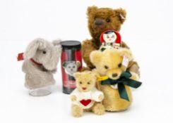 Steiff limited edition Egg Warmer set bear and elephant, 2148 for 2004; Matrioschka bear, 762 of