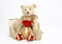Steiff limited editions for Teddy Bears of Witney, a Xenia, 94 of 1500, 2001; and Baby Alfonzo, 4127