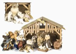 Steiff limited edition Nativity Sets 2005 to 2007, The Holy Family 74 of 1000, 2005; the Shepherds