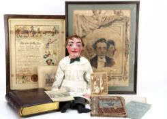 Little Tommy Tucker the original ventriloquist puppet of Lieutenant Walter Cole and family