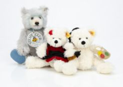 A Steiff limited Club edition Teddy Baby 1929 Blue, 4293 for 1992, in original box; and two yellow