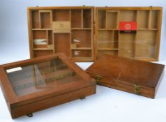 Two wooden counter top cigar display cases advertising Willem II, 38cm x 32cm, together with a