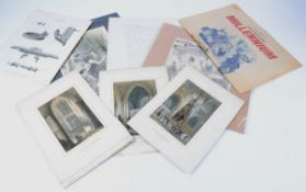 A large quantity of paper ephemera to include original sketches, documents and prints, to include