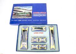 Lone Star Treble '0' Lectric 000 N Gauge EL50 Goods Set, comprising BR green Diesel D5000, four