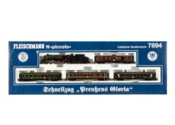 Fleischmann N Gauge Prussia's Glory Train Set, a limited edition boxed set comprising P10 2810 steam