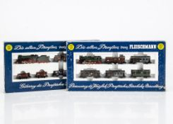 Fleischmann N Gauge Prussian Train Sets, two boxed sets 7882 comprising T9 8177 steam locomotive and