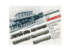 Arnold Bavarian Railway Limited Edition N Gauge Train Set, a boxed 0235 set with certificate