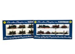 Fleischmann N Gauge Prussian Train Sets, two boxed sets 7881 comprising 7377 T16 steam locomotive