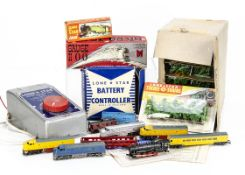 Lone Star 000 N Gauge Push-a-long Loocmotives Rolling Stock and Track and Electric controllers,
