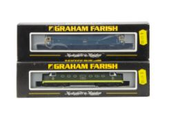 Graham Farish N Gauge Diesel Locomotives, two cased examples both with card sleeves, 371-253 Class