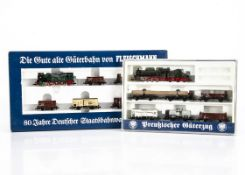 Fleischmann N Gauge Prussian Train Sets, two sets one boxed 7886 T18 8164 steam locomotive with five
