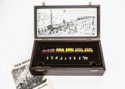 Minitrix Continental N Gauge Der Adler Train Set in Wooden Case, 150 year anniversary set comprising