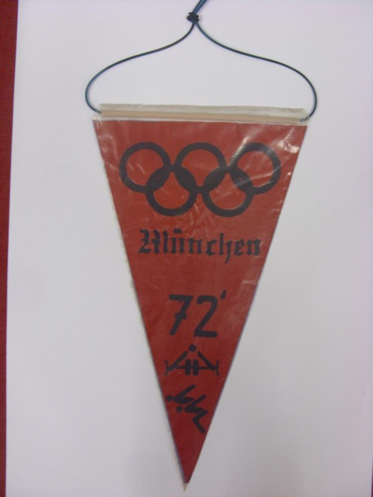 Lot 88 - 1972 Olympic Games, Munich, Official Pennant Issued for the Game's, double sided design with Olympic