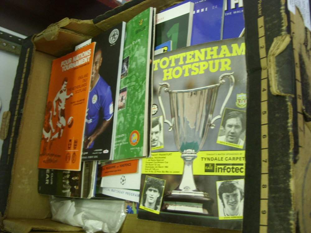 Lot 473 - A collection of over 50 football programmes, mainly big match issues, includes, 1998 Poland v Brazil