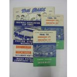 BIRMINGHAM CITY, 1956, 4 football items relating to Birmingham City and the FA Cup Final, the