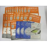 1950's PROGRAMMES, 1951/1952, a collection of 26 football programmes from the season. ARSENAL (22) v