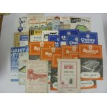 1950's PROGRAMMES, 1954/1955, a collection of 30 football programmes from the season. ARSENAL (6)