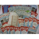 ASTON VILLA, 1960-1970, a collection of 244 football programmes from the 1960's. 1960/1961 (24),