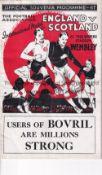 ENGLAND / SCOTLAND Programme England v Scotland at Wembley 14/4/1934. Centre pages detached.