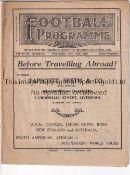 ENGLAND / WALES / LIVERPOOL Programme England v Wales 18/11/1931 at Anfield. Light horizontal