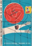 WORLD CUP 1954 Programme England v Uruguay 26/6/1954 World Cup Quarter Final in Basel. Match and