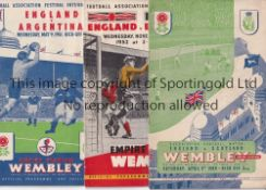 ENGLAND A collection of 66 England homes 1947-1969 to include all matches v Scotland from 1947,