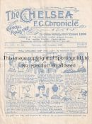 ENGLAND / WALES / CHELSEA Programme England v Wales 20/11/1929 at Stamford Bridge. Not Ex Bound