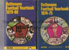 ROTHMANS JOHN MOTSON A complete run of Rothmans Football Yearbooks 1970/71 to 2019/20 mostly