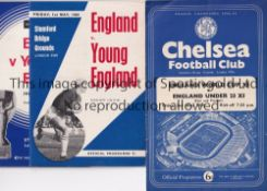ENGLAND A collection of 15 England matches almost all v Young England at Arsenal and Chelsea 1954-
