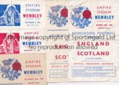 ENGLAND / SCOTLAND A collection of 5 England v Scotland wartime programmes at Wembley 4/10/1941 (