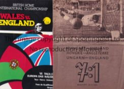 ENGLAND AWAYS A collection of 17 England away programmmes from the 1970's and 1980's. Comes with 2